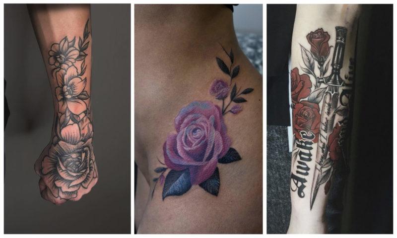 Значение Татуировки Роза для Мужчин и Девушек