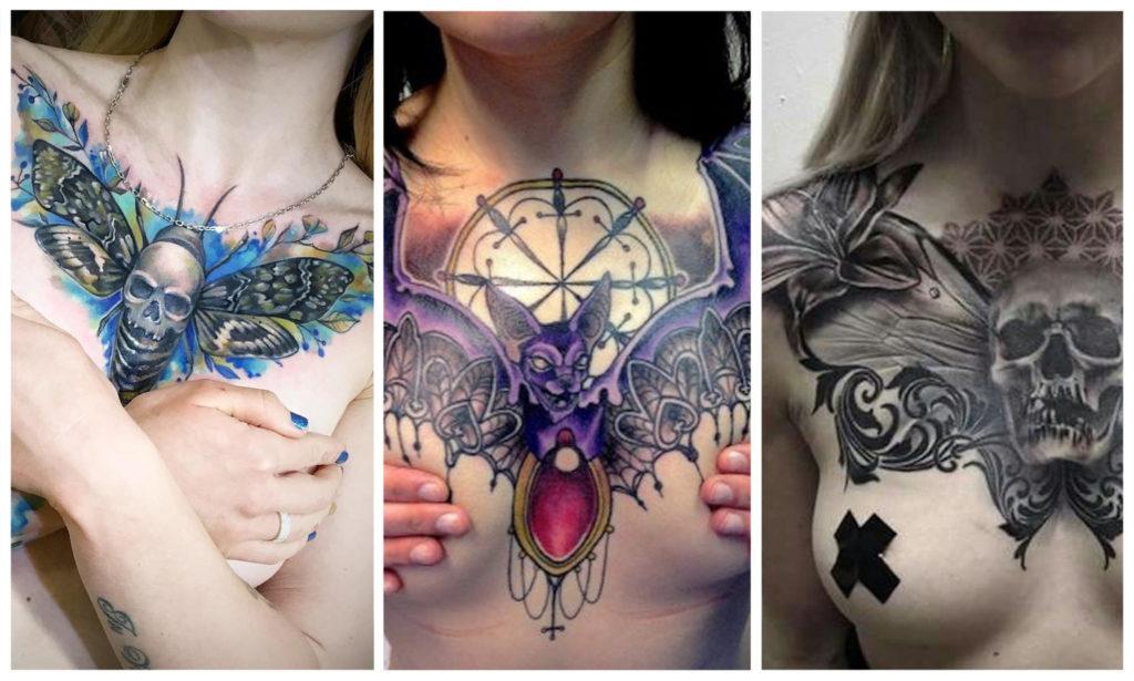 50 лучших женских татуировок на груди 2020 года