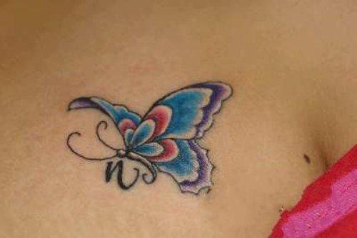 Веточки и бабочка
