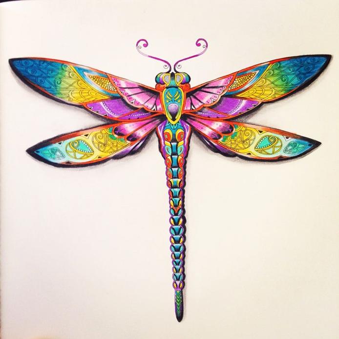 разноцветный Эскиз стрекозы