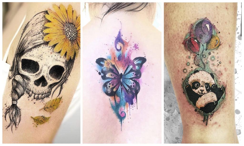 Акварельные татуировки: происхождение, техника, художники и старение
