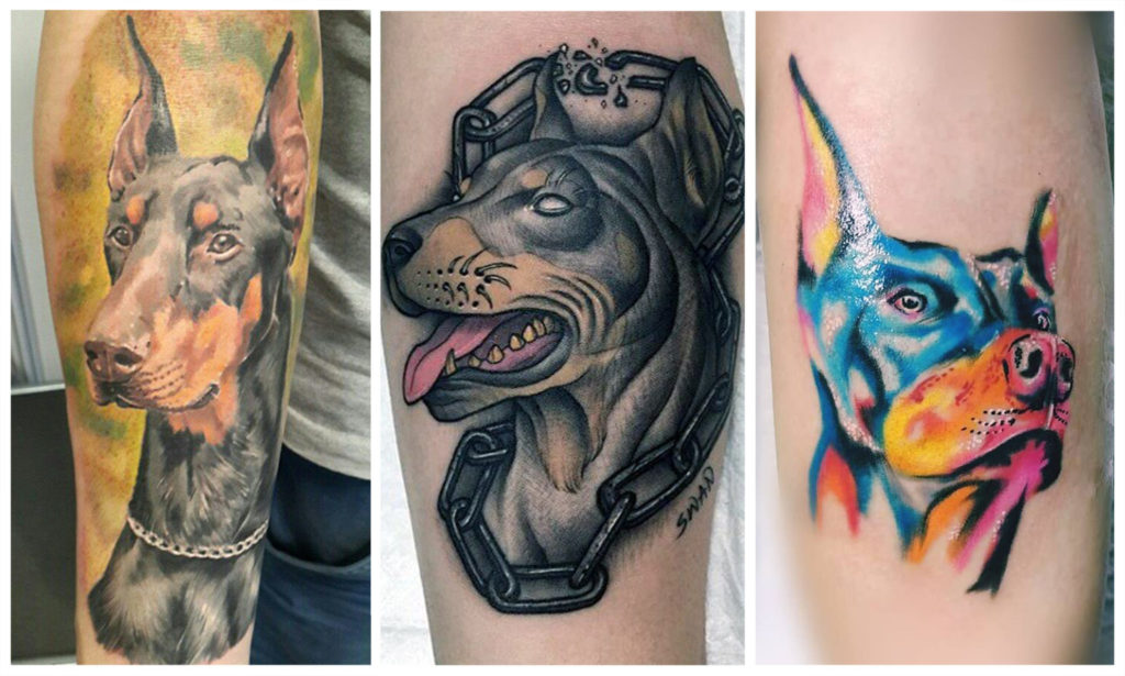 Татуировка Доберман у Мужчин и Женщин