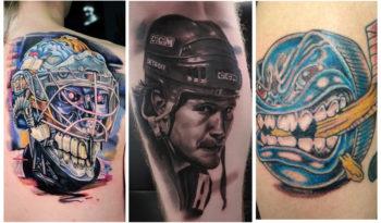 Хоккейные татуировки для мужчин