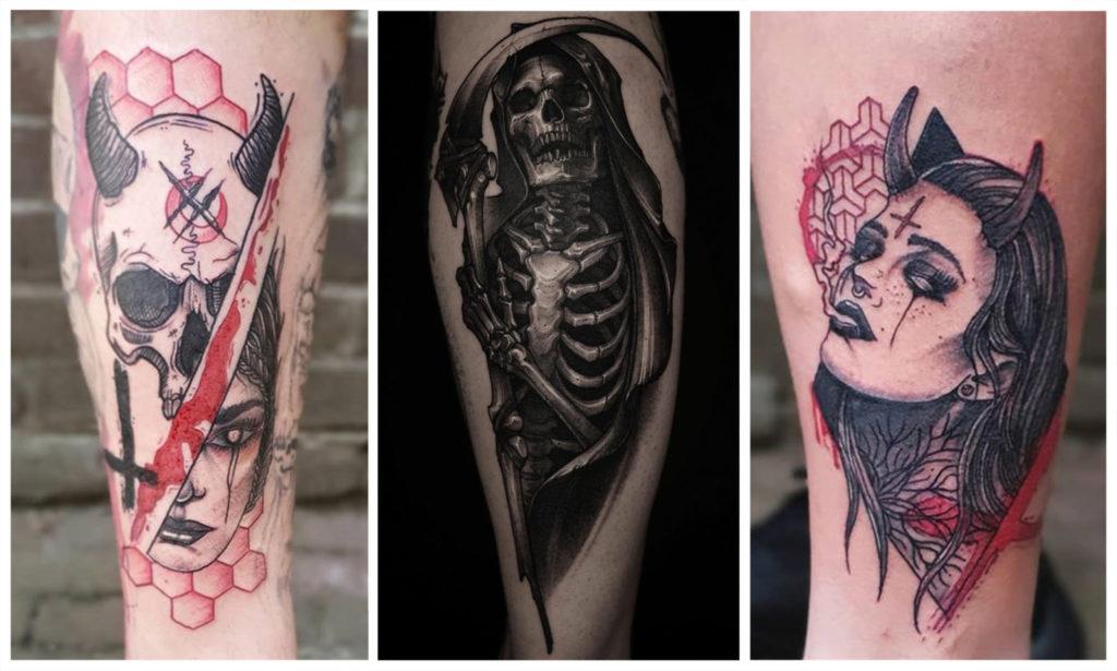 Сатанинские Татуировки - Значения и Эскизы