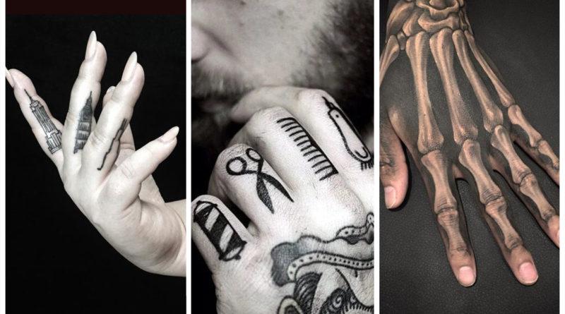 Необычные тату пальцы на руках фото мужские