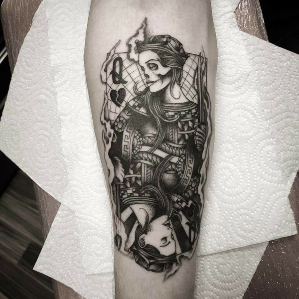 Удивительная сахарная татуировка черепа для девочек