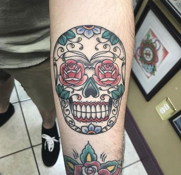 Красивые татуировки с черепами в классическом стиле