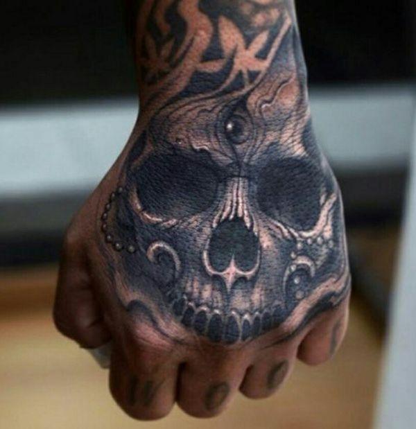 Реалистичные татуировки с изображением черепа