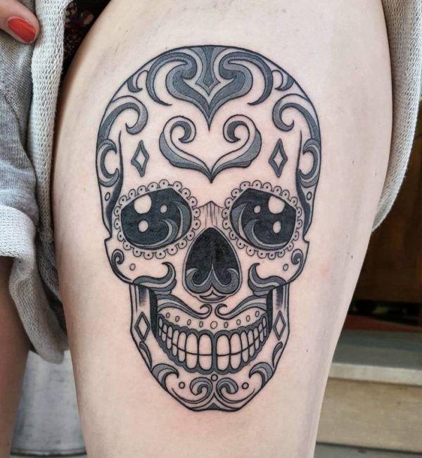 Простые татуировки с черепами