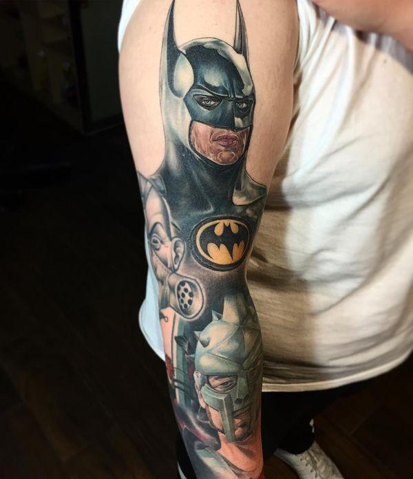 Сказочная татуировка рукава Бэтмена