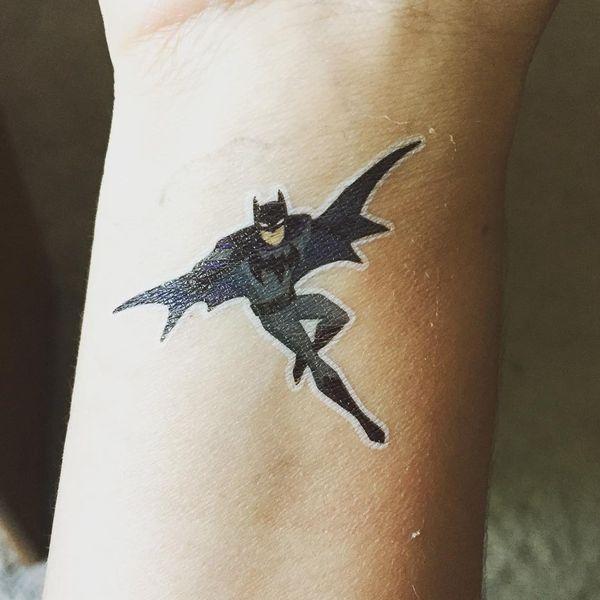Маленькая татуировка Бэтмена для детей