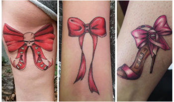 [120 Фото] Татуировки в виде Красного Бантика