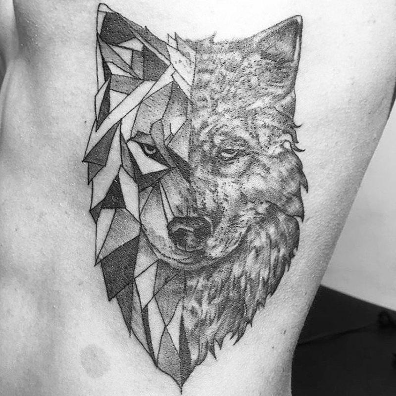 Волк в двух стилях