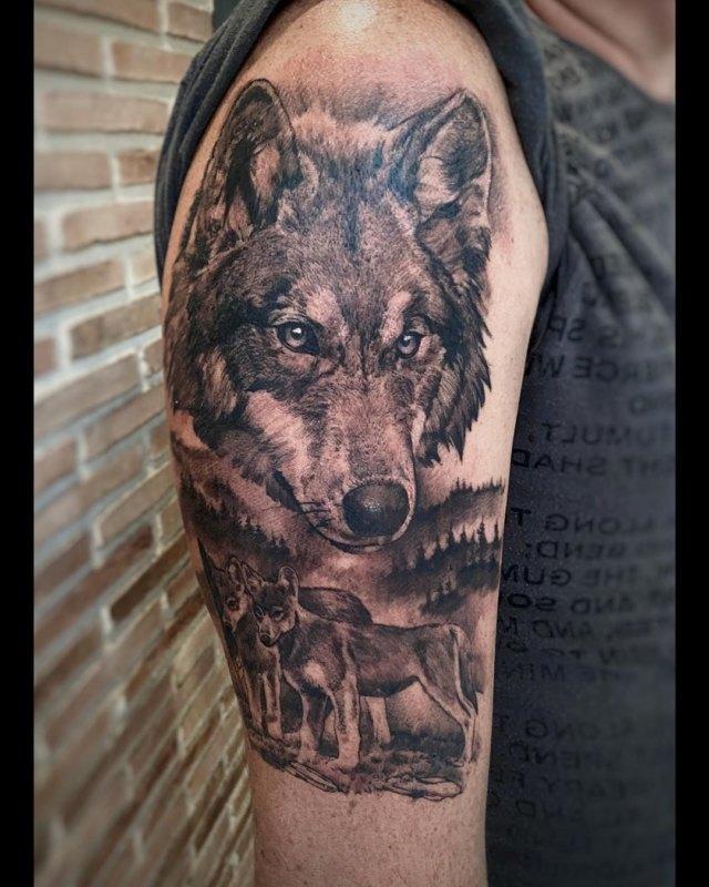 тату Волки