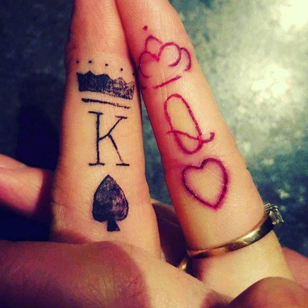 """Татуировка """"Королевский король и королева"""""""