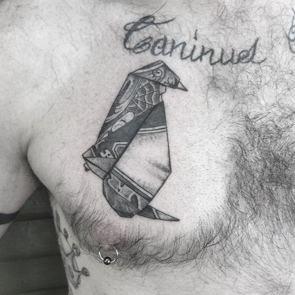 Татуировка для пингвинов оригами для парней