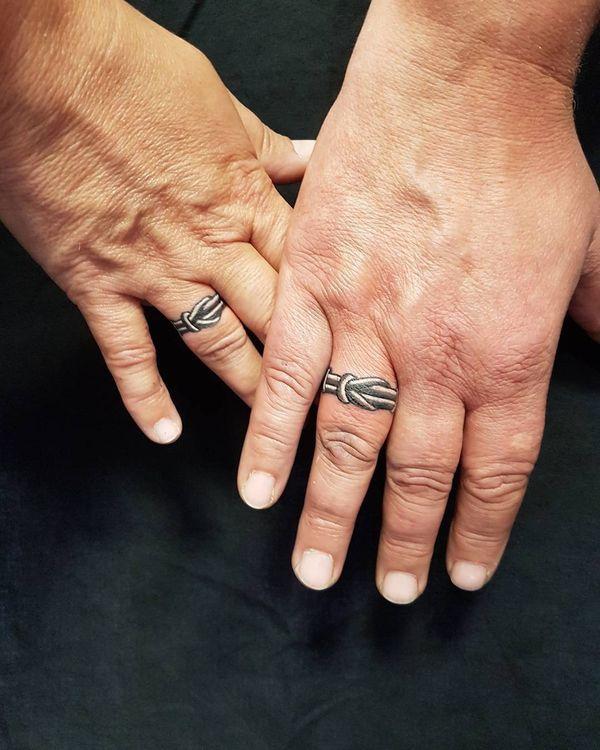 Элегантные татуировки 3d обручальное кольцо