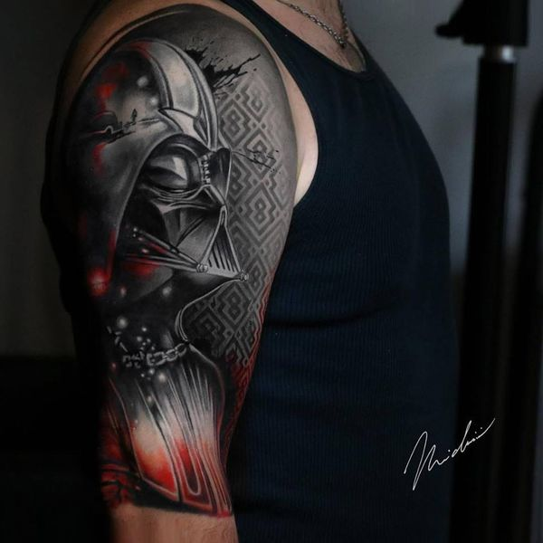 Захватывающая 3D татуировка Звездных войн Дарта Вейдера