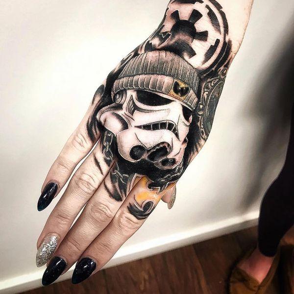 Татуировка Dope WuTang и Star Wars