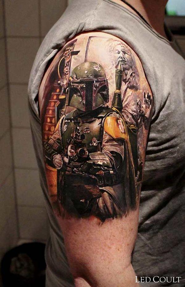 Нокдаун Звездные Войны татуировка с половиной рукава