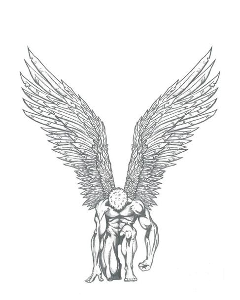Ангел встающий с колен