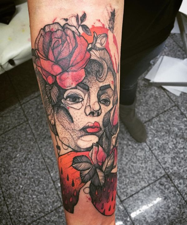 Яркая татуировка для парня на руке