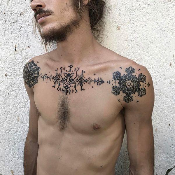 Достойный дизайн татуировки для мужчин
