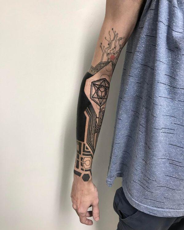 Геометрический стиль татуировок для мужчин