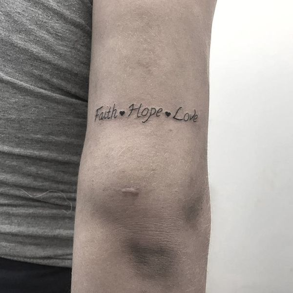 Удивительно красивая татуировка религиозные слова