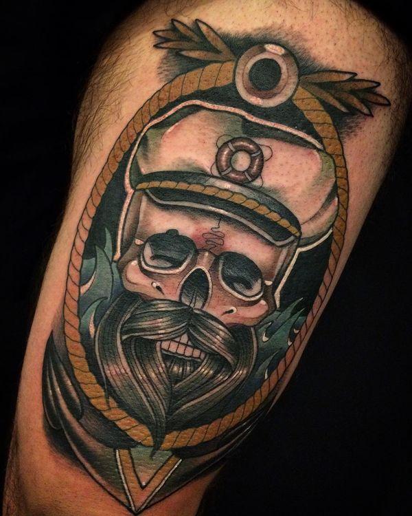 Лучшая татуировка с якорем