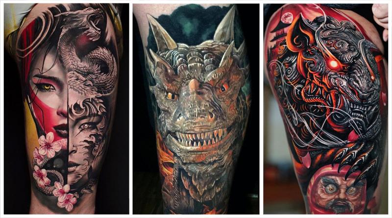 Тату Дракона: что означают татуировки мифического существа?
