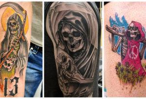Татуировка Смерть с Косой - что Означает Мрачный Жнец?