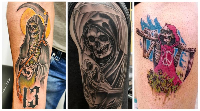 Татуировка Смерть с Косой – что Означает Мрачный Жнец?