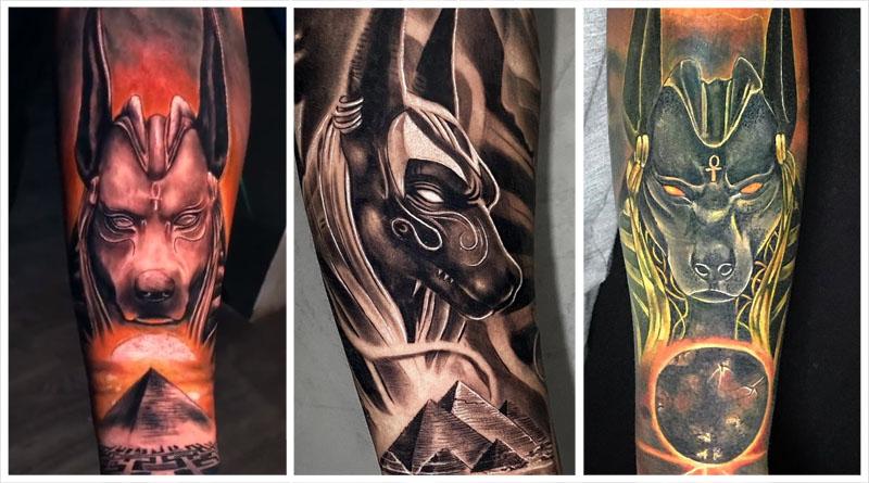 Татуировки с Анубисом